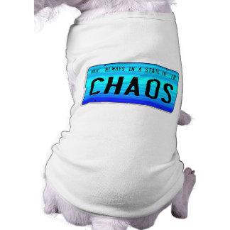 Estado del caos playera sin mangas para perro