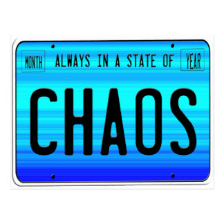 Estado del caos tarjetas postales
