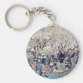 Estado del ciruelo, Kameido por Ando, Hiroshige Uk Llaveros Personalizados