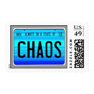 Estado del franqueo del caos sellos postales