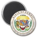 Estado del gran sello de Hawaii Imanes Para Frigoríficos