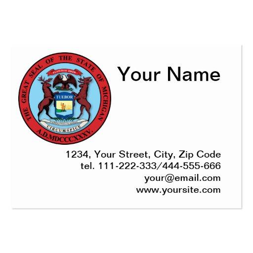Estado del gran sello de Michigan Tarjeta Personal