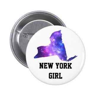 Estado del imperio de la galaxia de Nueva York Pin Redondo De 2 Pulgadas