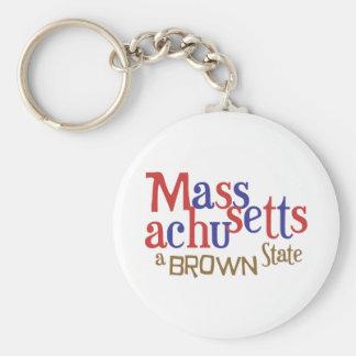 Estado del mA Brown - el senador Scott Brown de Ma Llaveros