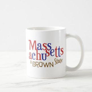 Estado del mA Brown - el senador Scott Brown de Ma Taza Básica Blanca