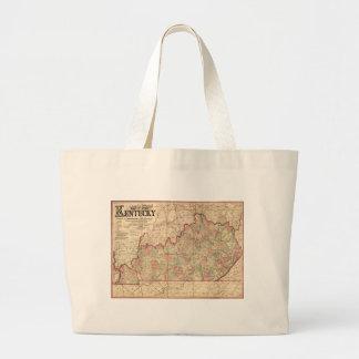 Estado del mapa de Kentucky de James Lloyd (1862) Bolsa Tela Grande