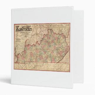 "Estado del mapa de Kentucky de James Lloyd (1862) Carpeta 1"""