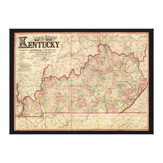 Estado del mapa de Kentucky de James Lloyd (1862) Lona Estirada Galerías