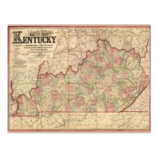 Estado del mapa de Kentucky de James Lloyd (1862) Postales