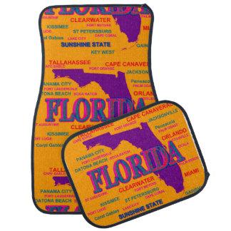 Estado del mapa de la Florida, Miami, Orlando Alfombrilla De Coche