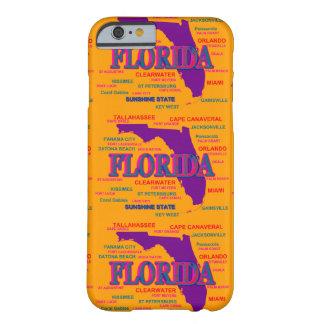 Estado del mapa de la Florida, Miami, Orlando Funda De iPhone 6 Slim