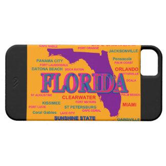 Estado del mapa de la Florida, Miami, Orlando Funda Para iPhone SE/5/5s