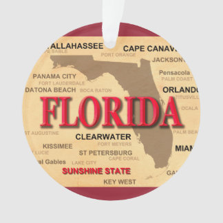 Estado del mapa de la Florida, Miami, Orlando, Key