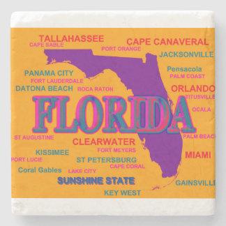 Estado del mapa de la Florida, Miami, Orlando Posavasos De Piedra