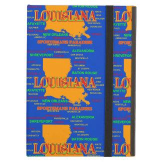 Estado del mapa de Luisiana, New Orleans,