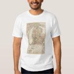 Estado del mapa del atlas de Michigan Remera