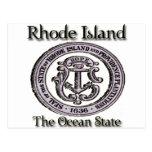 Estado del océano del sello del estado de Rhode Is Postales