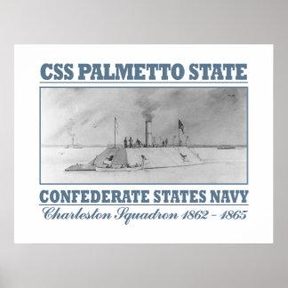 Estado del Palmetto del CSS Póster
