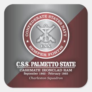 Estado del Palmetto del CSS (SF) Pegatina Cuadrada