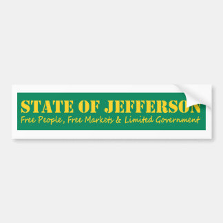 Estado del pegatina del bumber de Jefferson Pegatina Para Auto