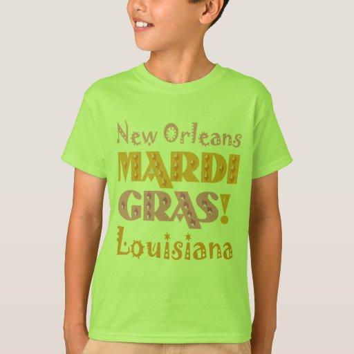 Estado del pelícano de New Orleans del carnaval Remera