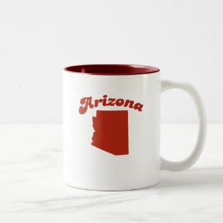 Estado del rojo de ARIZONA Tazas De Café