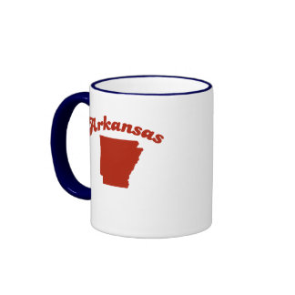 Estado del rojo de ARKANSAS Taza De Café