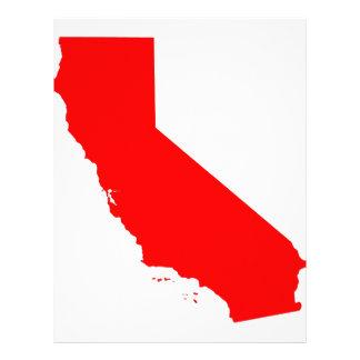 Estado del rojo de California Plantilla De Membrete
