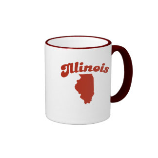 Estado del rojo de ILLINOIS Tazas De Café