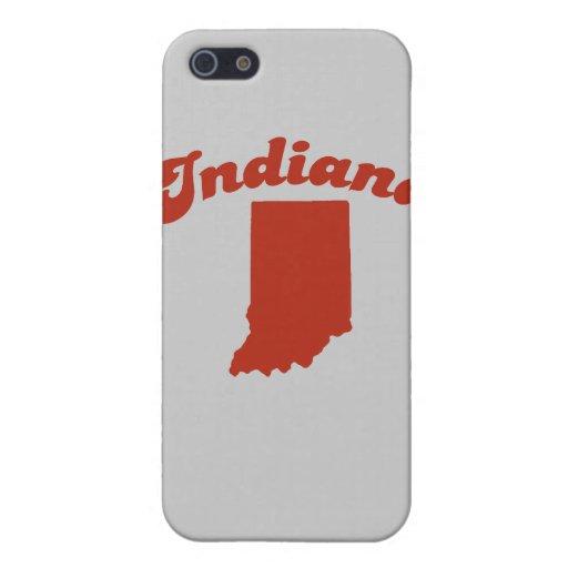 Estado del rojo de INDIANA iPhone 5 Fundas