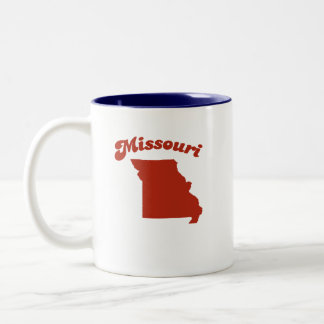 Estado del rojo de MISSOURI Tazas De Café