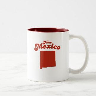 Estado del rojo de NEW MÉXICO Tazas De Café