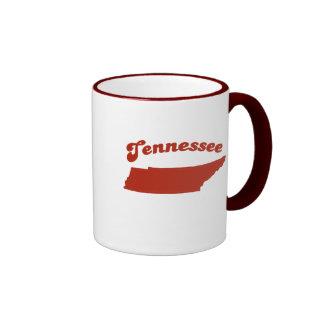 Estado del rojo de TENNESSEE Tazas De Café