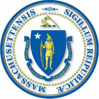 Estado del sello de Massachusetts Esculturas Fotograficas