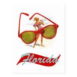 Estado del sol retro la Florida Fla del vintage de Tarjetas Postales
