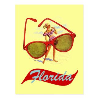 Estado del sol retro la Florida Fla del vintage de Postales