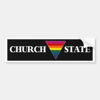 estado del triángulo de la iglesia del arco iris ( pegatina para auto
