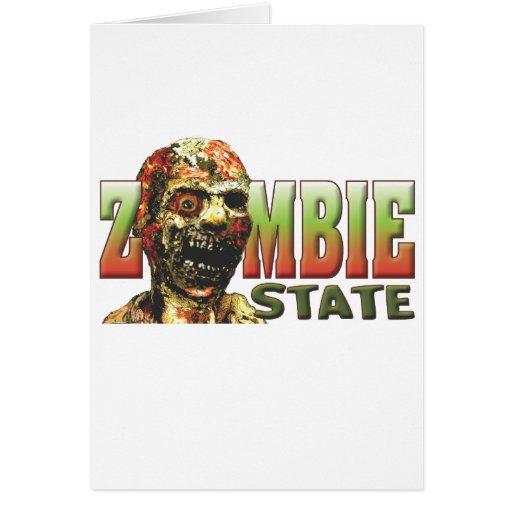 Estado del zombi tarjeton