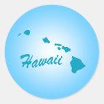 Estado Hawaii Pegatina Redonda