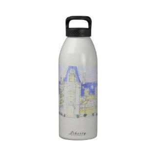 Estado histórico de Biltmore en la noche Botella De Agua