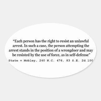 Estado ilegal v Mobley de la detención y de la Pegatina Ovalada
