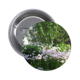 Estado jardín flor de la foto de New Jersey, los Pin Redondo De 2 Pulgadas