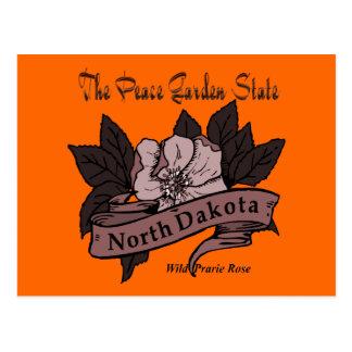 Estado jardín Prarie de la paz de Dakota del Norte Postales