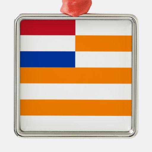 Estado libre anaranjado ornamento de navidad