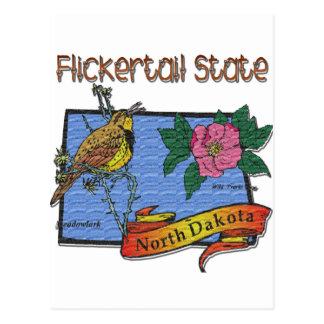 Estado Meadowlark de Dakota del Norte Flickertail Postales