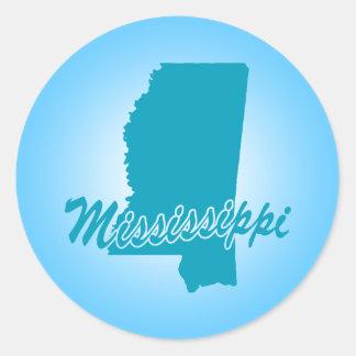Estado Mississippi Etiqueta Redonda