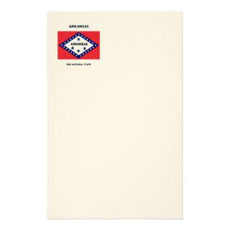 Estado natural de la bandera de Arkansas Papelería Personalizada