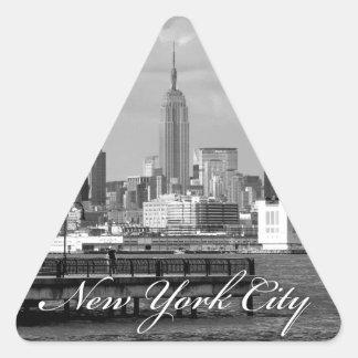 Estado New York City del imperio Pegatina Triangular