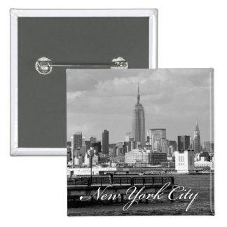 Estado New York City del imperio Pin Cuadrada 5 Cm