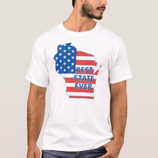 """Estado patriótico de Wisconsin """"mejor nunca """" Playera"""